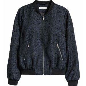 NWOT H&M Textured Bomber Jacket